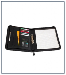 A4 Folder with Zipper Closure F039R